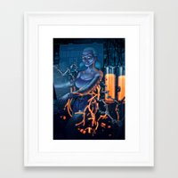 android Framed Art Prints featuring Android by Nicolas Villeminot