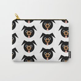 Black & Brown Dogs Pattern Carry-All Pouch