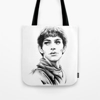 merlin Tote Bags featuring Merlin by Anna Tromop Illustration