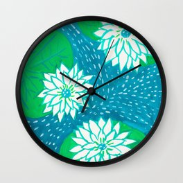 Water Lillies Wall Clock