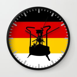 Pressure Stove with German Flag Wall Clock