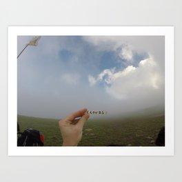 Analog Cloud Label  Art Print