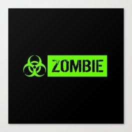 Zombie: Biohazard Canvas Print