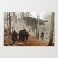 Canvas Prints featuring 1920 - into the wild by Jakub Rozalski