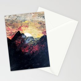 Arapahoe National Forest [2]: a colorful abstract mixed media mountain range Stationery Cards