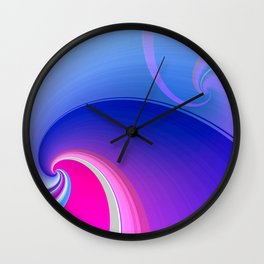 Ride the Wave (purple) Wall Clock