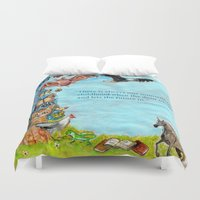 will graham Duvet Covers featuring Graham Greene, childhood by dawn schreiner