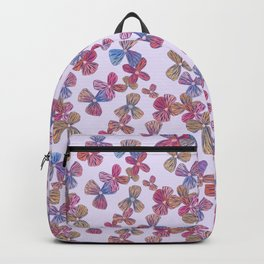 Pretty Lined Floral Pattern, Pale Pink Backpack