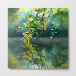 Leaves in the Water Metal Print