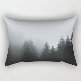 Fog Over Forest Rectangular Pillow