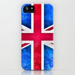 Grunge British Flag iPhone Case