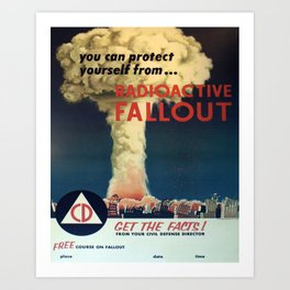 Vintage Poster - You Can Protect Yourself from Fallout Art Print