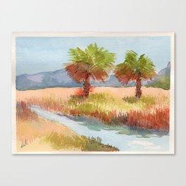 Ranch Palms Canvas Print