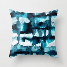 Watercolor 03 - Wild Sea Throw Pillow