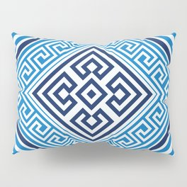 Greek Key Ornament - Santorini -Rhombus #2 Pillow Sham