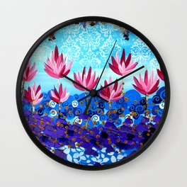 Lotus Dreaming Wall Clock