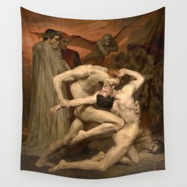 Dante and Virgil in Hell Wall Tapestry