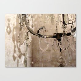 Vintage French Crystal Chandelier - IV Canvas Print