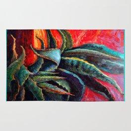 Southwest-western Style Desert Agave in Sunrise Rug
