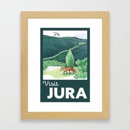 Visit Jura Vintage Travel Framed Art Print