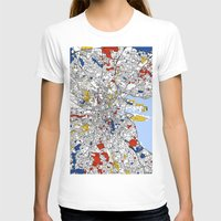 mondrian T-shirts featuring Dublin mondrian by Mondrian Maps