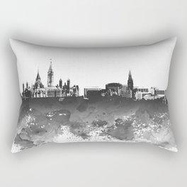 Design 106 Ottawa Skyline B/W Rectangular Pillow
