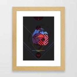 Chaotic Polygon Ensemble Framed Art Print