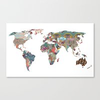 map Canvas Prints featuring Louis Armstrong Told Us So by Bianca Green