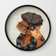 Elegant Mr. Dachshund Wall Clock