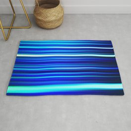 Frost Blues LED Sculpture Light Painting Rug