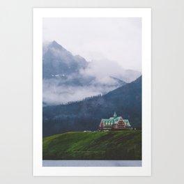 Waterton Fog Art Print