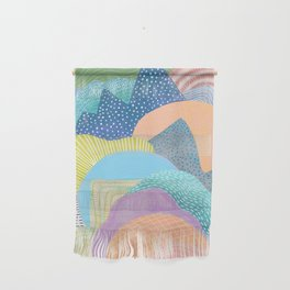 Modern Landscapes and Patterns Wall Hanging