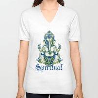 spiritual V-neck T-shirts featuring Spiritual healer  by Tshirt-Factory