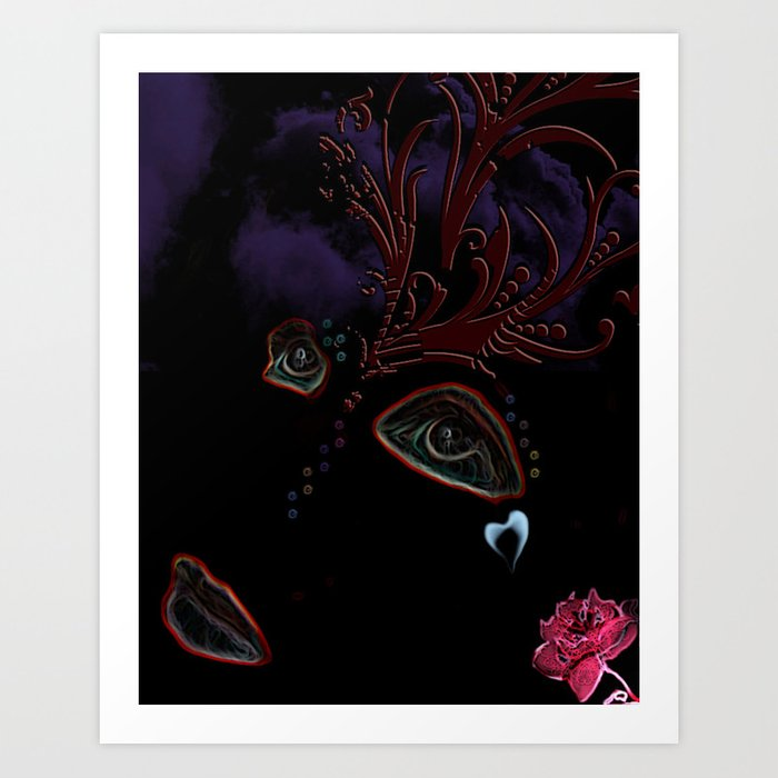 Blackout Woman Art Print