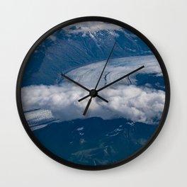 Aerial Glacier Two - Alaska Wall Clock
