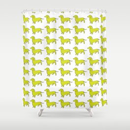 Doxie Love - Lime Shower Curtain
