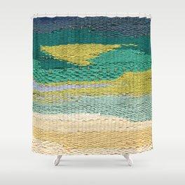 Green Weaving Shower Curtain