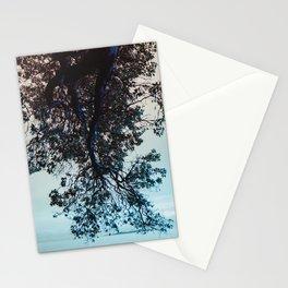 Blue Overhang (Vertical) Stationery Cards