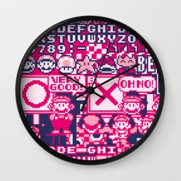Glitched Mario Wall Clock
