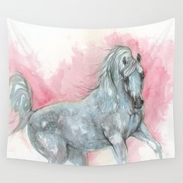 arabian horse on pink background Wall Tapestry