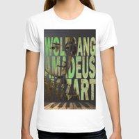 mozart T-shirts featuring Wolfgang Amadeus Mozart by Ganech joe