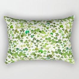 Shamrock and Clover Field Rectangular Pillow