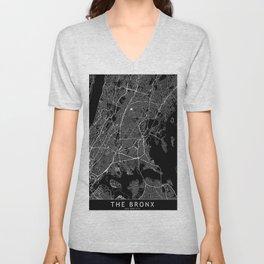 The Bronx Black Map Unisex V-Neck