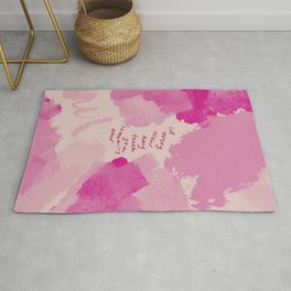 Let Every New Day Teach You Something New. Rug