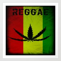 reggae Art Prints featuring REGGAE by shannon's art space