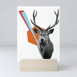 Geometric Stag Mini Art Print