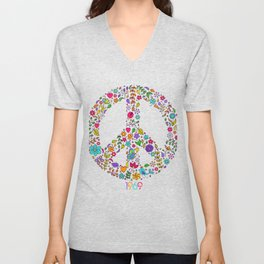 Cool Peace Tees For Boys And Girls Peace And Love 1969 Unisex V-Neck