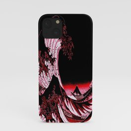 The Great Wave : Red & Black  iPhone Case