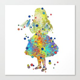 Drink Me - Alice In Wonderland - Watercolor Art Canvas Print