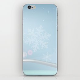 Blue Christmas iPhone Skin